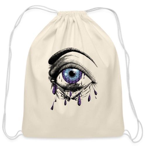 Lightning Tears - Cotton Drawstring Bag