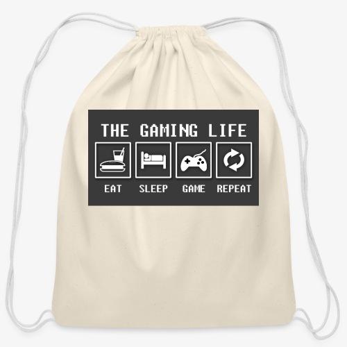 Gaming is life - Cotton Drawstring Bag