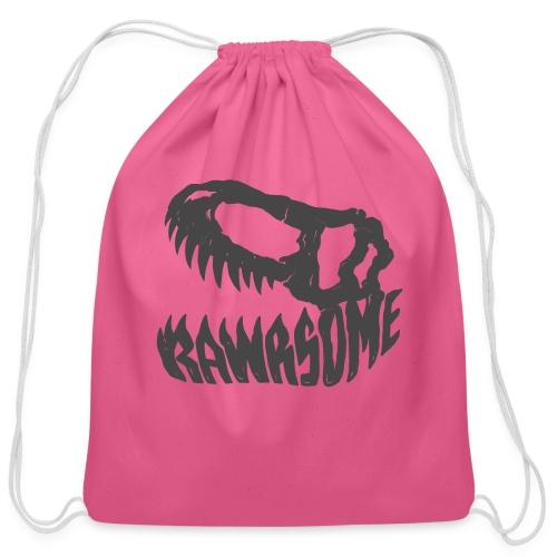 RAWRsome T Rex Skull by Beanie Draws - Cotton Drawstring Bag
