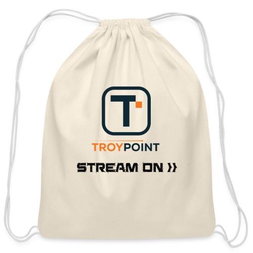 TROYPOINT Stream On Navy Logo - Cotton Drawstring Bag