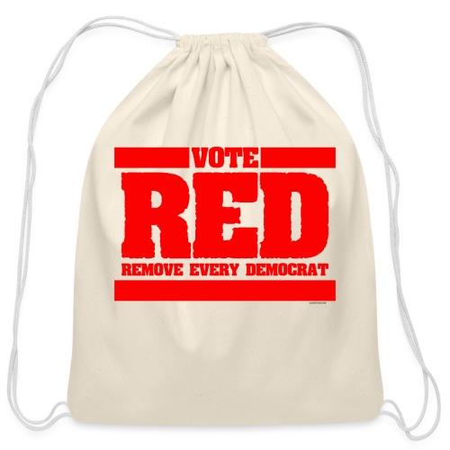 Remove every Democrat - Cotton Drawstring Bag