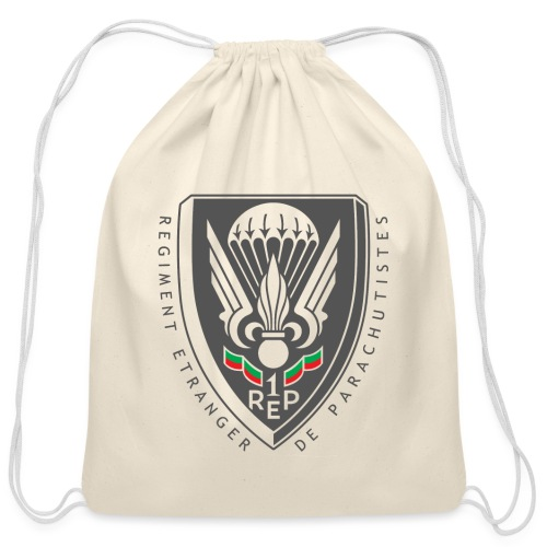 1er REP - Regiment - Badge - Dark - Cotton Drawstring Bag