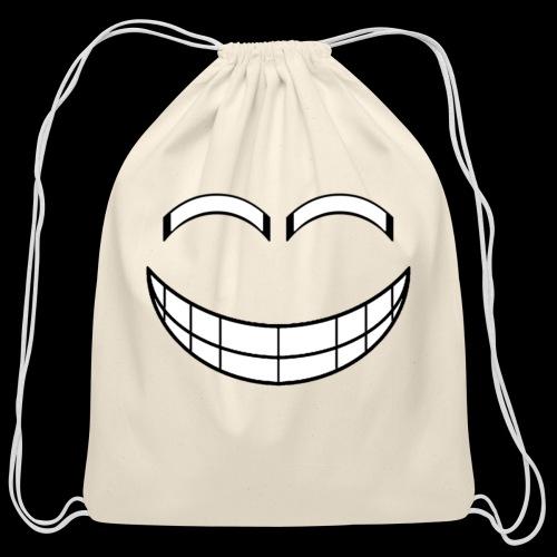 Empty Grin - Cotton Drawstring Bag