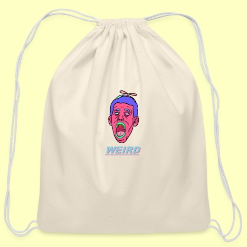 WEIRD - Cotton Drawstring Bag