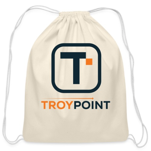 TROYPOINT Navy Logo - Cotton Drawstring Bag