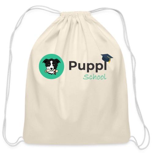 Puppl School - Full - Version 1 - Cotton Drawstring Bag