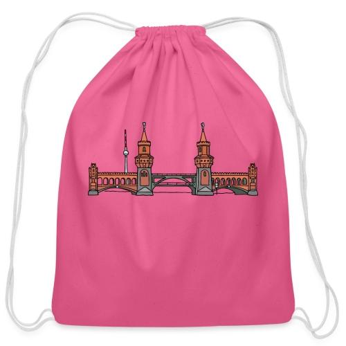 Oberbaum Bridge Berlin - Cotton Drawstring Bag