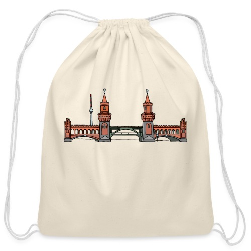 Oberbaum Bridge Berlin - Cotton Drawstring Bag