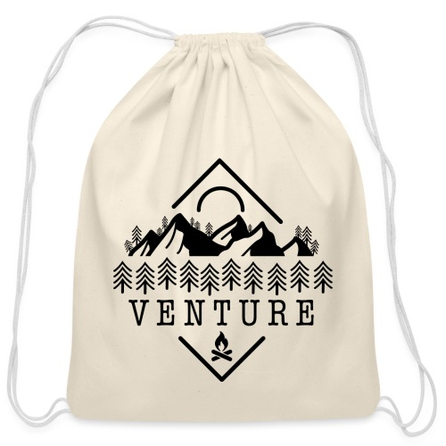 Venture Van Life / Travel Canada / Rocky Mountains - Cotton Drawstring Bag