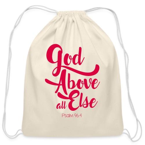 Psalm 96:4 God above all else - Cotton Drawstring Bag