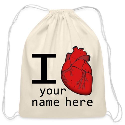 Human Heart - Cotton Drawstring Bag