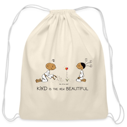 Kind is the new beautiful - Cotton Drawstring Bag