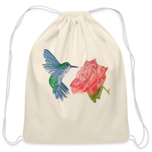 Hummingbird - Cotton Drawstring Bag