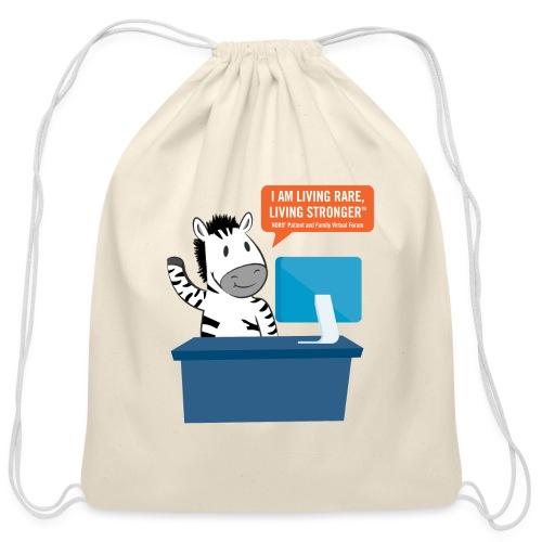 Living Rare, Living Stronger 2020 Virtual Zebra - Cotton Drawstring Bag