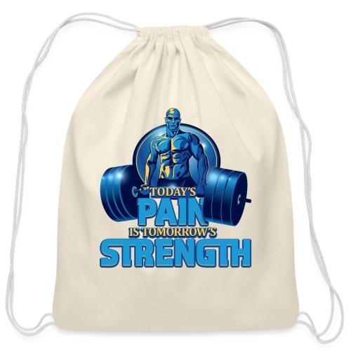 Heavy Lifting Man - Cotton Drawstring Bag
