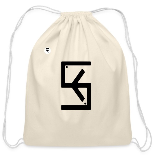 Soft Kore Logo Black - Cotton Drawstring Bag