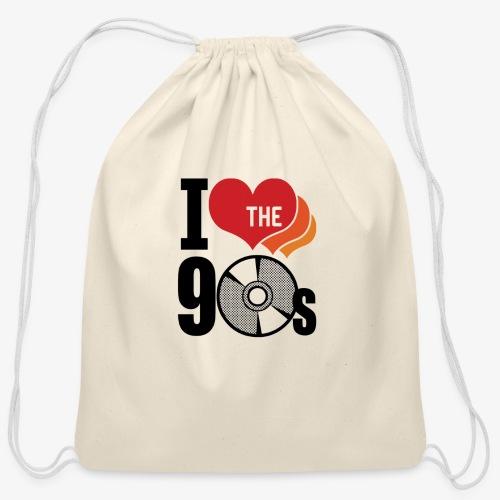 I love the 90s - Cotton Drawstring Bag