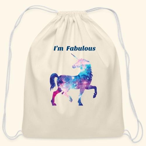 I'm Fabulous Unicorn - Cotton Drawstring Bag
