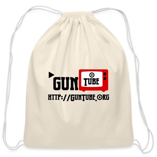 GunTube Shirt with URL - Cotton Drawstring Bag
