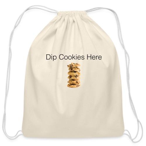 Dip Cookies Here mug - Cotton Drawstring Bag
