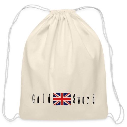 UK Gold and Sword D Day Beaches - Cotton Drawstring Bag