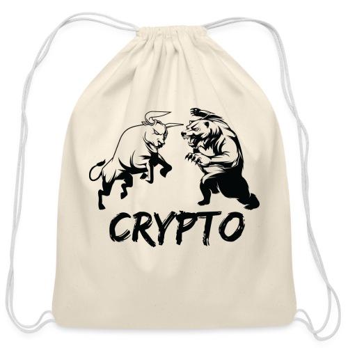 CryptoBattle Black - Cotton Drawstring Bag