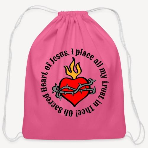 Oh Sacred Heart of Jesus - Cotton Drawstring Bag