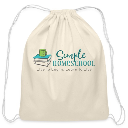 Simple Homeschool Logo with Motto - Cotton Drawstring Bag