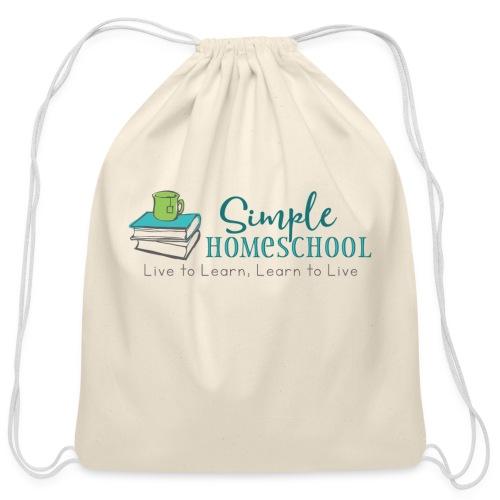 Simple Homeschool Logo with Motto - Cotton Drawstring Bag