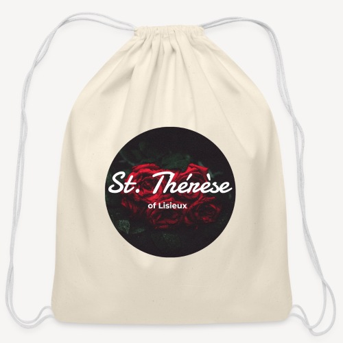 St Therese of Lisieux - Cotton Drawstring Bag