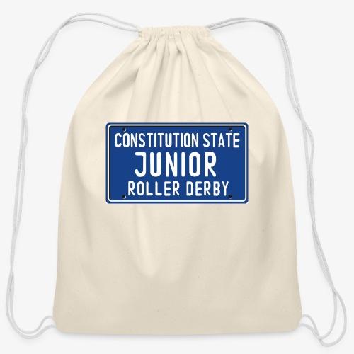 Constitution State Junior Roller Derby - Cotton Drawstring Bag