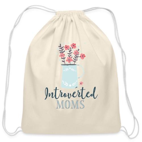 Introverted Moms Logo - Cotton Drawstring Bag