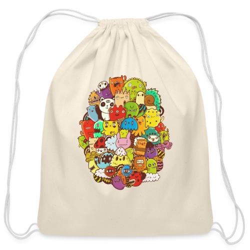 Doodle for a poodle - Cotton Drawstring Bag