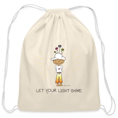 Let your light shine - Cotton Drawstring Bag