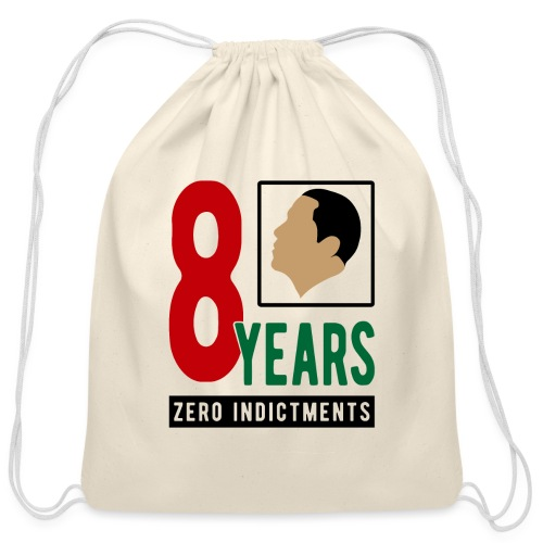 Obama Zero Indictments - Cotton Drawstring Bag