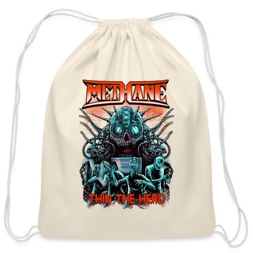 Methane Thin The Herd - Cotton Drawstring Bag