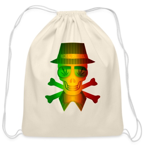 Rasta Man Rebel - Cotton Drawstring Bag