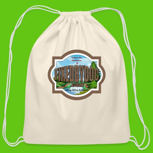New FBD logo with words and clear background - Cotton Drawstring Bag
