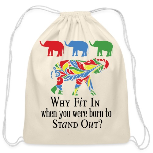 Why Fit In? - Cotton Drawstring Bag
