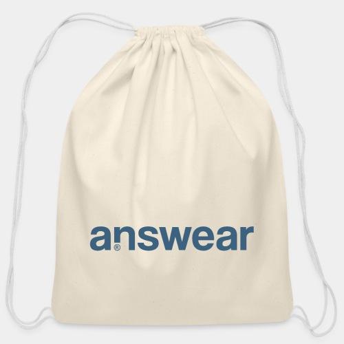 answear answer question - Cotton Drawstring Bag