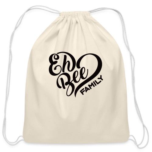 EhBeeBlackLRG - Cotton Drawstring Bag
