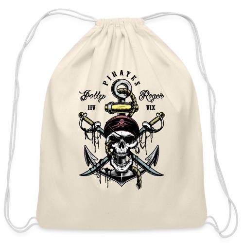 pirates - Cotton Drawstring Bag