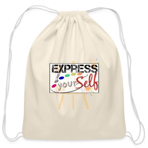 Express Yourself by Miss BJB - Cotton Drawstring Bag