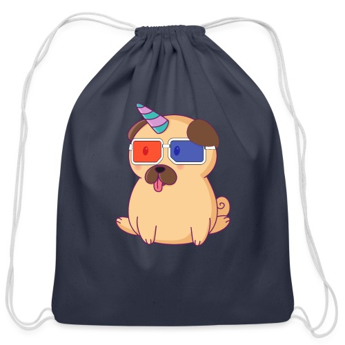 Dog with 3D glasses doing Vision Therapy! - Cotton Drawstring Bag