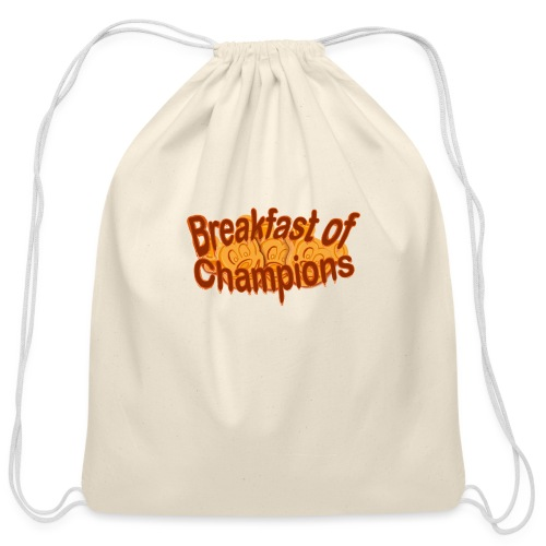 Breakfast of Champions - Cotton Drawstring Bag