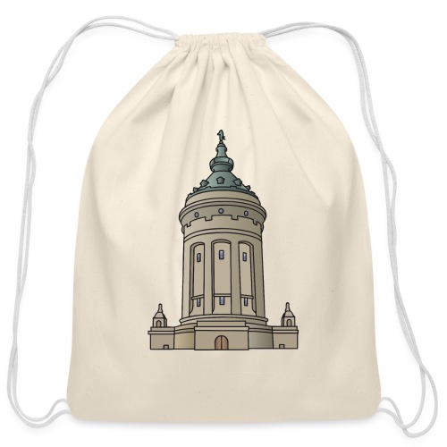 Mannheim water tower - Cotton Drawstring Bag
