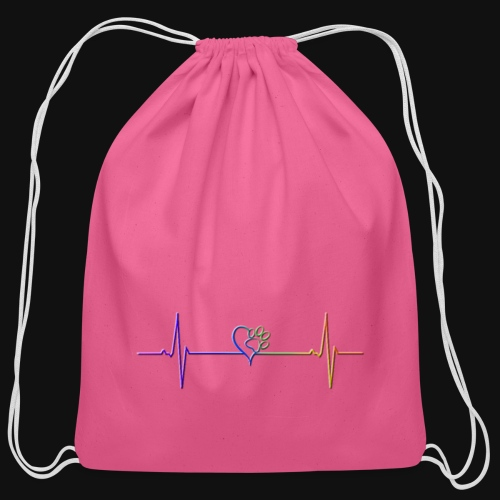 Live & Breathe Dog - Cotton Drawstring Bag