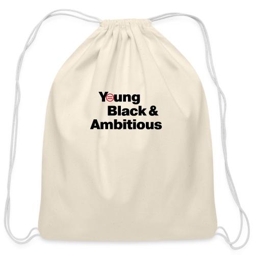YBA white and gray shirt - Cotton Drawstring Bag