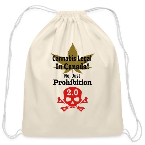 prohibition - Cotton Drawstring Bag