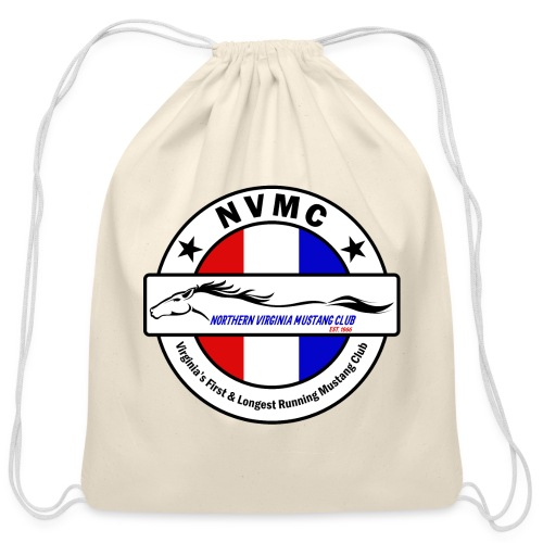 Circle logo on white with black border - Cotton Drawstring Bag